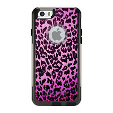 OtterBox Commuter for iPhone 5 5S SE 6 6S Plus Pink Purple Leopard Skin Spots