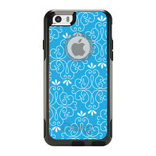 OtterBox Commuter for iPhone 5S SE 6 6S 7 Plus Bright Blue White Floral