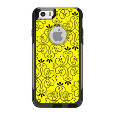 OtterBox Commuter for iPhone 5 5S SE 6 6S Plus Yellow Black Floral Pattern