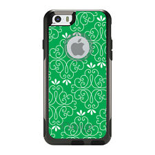 OtterBox Commuter for iPhone 5S SE 6 6S 7 Plus Green White Floral