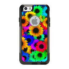 OtterBox Commuter for iPhone 5S SE 6 6S 7 Plus Red Green Yellow Sunflowers