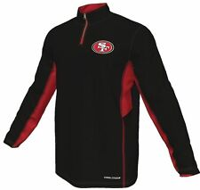 Majestic San Francisco 49ers Black Defending Zone Cool Base Quarter Zip Jacket