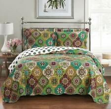 Abripedic Oversized Printed Floral Bonnie Quilt & Shams, Modern 3PC Coverlet Set