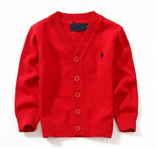 |100% Cotton kids Cardigan Boys Girls Children's Knit Cardigan 7 colors 2-6 Y