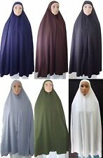 "Khimar 50"" Hijab Niqaab Abaya Veil Jilbab Islam + Under Scarf knee Length Long"