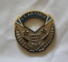 United States Air Force Cross Into The Blue Cutout Challenge Coin