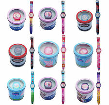 Boys & Girls Disney TV Character Time Wrist Watch Tin Box Brand New Gift Idea
