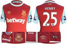 *15 / 16 - UMBRO ; WEST HAM UTD HOME SHIRT SS + PATCHES / HENRY 25 = SIZE*