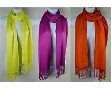 COLLECTION 18 Solid Color 100% Viscose Scarf with Fringe MSRP$28