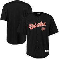 Men's Stitches Black Baltimore Orioles Polyester Button-Up Jersey - MLB