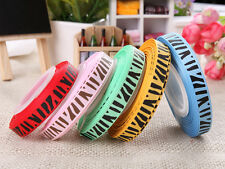5 10 25 50 100 yards zebra stripes grosgrain ribbon for craft making&decor Rh001