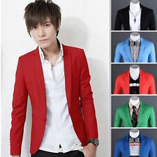 New Mens Casual Stylish Slim Fit One Button Suit Blazer Coat Jacket Tops Suit