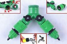 Garden Hose  1 / 2 Way Adapter Y Tap Connector Fitting Switch For Irrigation O