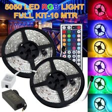 TOP Xmas Gifts 5050 3528 RGB LED Strip Light Kit Flexible Dimmable Waterproof