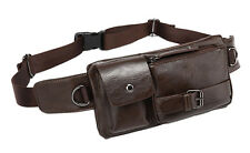Men PU Leather Shoulder Messenger Belt Fanny Pack Waist Sling Chest Bag Purse