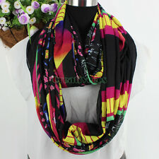 Fashion Colorful Geometric Patterns Long Scarf/Infinity Loop Cowl Scarf New