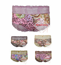 Floral Plus Size Knickers Lace Briefs Panties Underwear 055