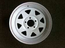 "Sunraysia 14"" Ford Rim- White! Trailer Parts"