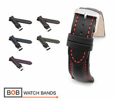 BOB Basic Calf Watch Band/Strap for Breitling, 18, 20, 22, 24 mm, black, new!