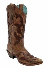 Corral Women's Brown Patch Overlay Boots C2902