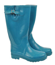 Teal Green Ladies Rubber Gumboots Size 6 7 8 9 10 Wellies Rainboots Boots *New*