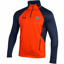Auburn Tigers Under Armour Fleece 1/4 Zip Jacket - Orange/Navy - College