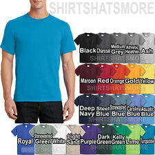 Mens Soft Spun Pre Shrunk Heavy Cotton T-Shirt S, M, L, XL 24 Colors  NEW!