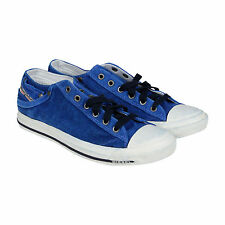 Diesel Exposure Low I Mens Blue Suede Lace Up Sneakers Shoes
