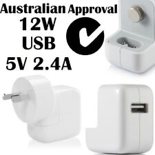 12W USB AC Wall Charger Adapter+Cable For Apple iPhone Samsung Tab Sony HTC 2.4A