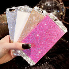 3D Bling Glitter sparkle Crystal Rhinestone Hard Case Cover for iPhone Galaxy
