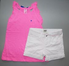 OSHKOSH B'GOSH® Girls' 4-6X Pink Ruffle Top & White Denim Short Set *NWT*