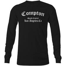 Compton Long Sleeve T-shirt Straight Outta  NWA Ice Cube Dr Dre Hip Hop Rap NEW