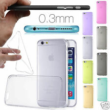 0.3MM Ultra Thin Slim Soft Gel Case Cover Skin for iPhone 6s & 6  +Screen Guard
