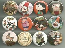 Gravity Falls 1.5 inch Pins Buttons Magnets Set Dipper Mabel Set 2