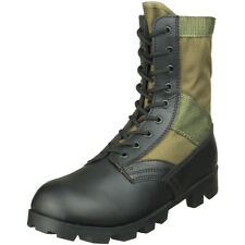 US Army Combat Vietnam Era Jungle Mens Boots Military Panama Sole Olive OD 5-13