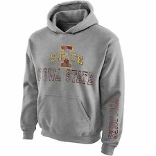 Youth New Agenda Gray Iowa State Cyclones Hollow Straight Prep Hoodie - College