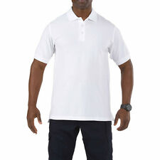 5.11 Professional Mens Sport Duty Work Polo Shirt Short Sleeve 100% Cotton White