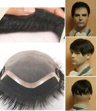 Toupee fine mens human hair replacement system for hair loss supplement for men