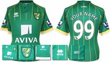 *15 / 16 - ERREA ; NORWICH CITY AWAY SHIRT SS + PATCHES / PERSONALISED = SIZE*