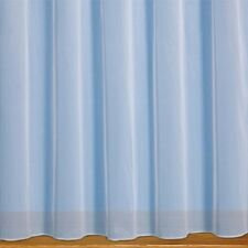 WHITE PLAIN MODERN WEIGHTED BOTTOM NET CURTAINS MADE TO MEASURE