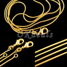 """1.2 mm SALE Gold Plated Yellow Gold Snake Chain Necklace Jewelry 16-30"""" Gift"""