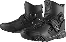 Mens Icon Black Textile Accelerant Motorcycle Riding Sport Racing Boots