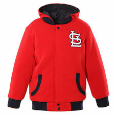 Toddler JH Design Red/Navy St. Louis Cardinals Fleece Hooded Reversible Jacket