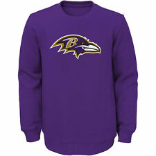 Baltimore Ravens Youth Prime Fleece Crew Pullover Sweatshirt - Purple - NFL