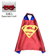 Superhero Cape (1cape+1mask) Batman Spiderman Green Lantern Supergirl for kids