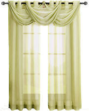 Abri Soft-Gold Grommet crushed sheer curtain panel!