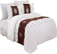 Eleanor Embroidered 3-PC Duvet Cover Set 100% Microfiber !