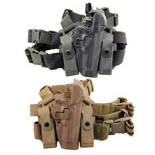 Tactical Right Leg Thigh Paddle Belt LEVEL 3 Lock Duty Holster Beretta 92 96 M9