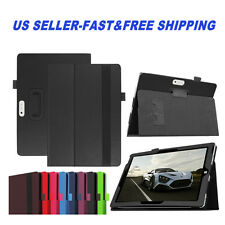 PU Leather Stand Folio Cover Case for Microsoft Surface RT Pro w/Stylus Holder