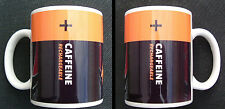 CAFFEINE RECHARGEABLE fun MUG duracell battery inspired mugs - personalised gift